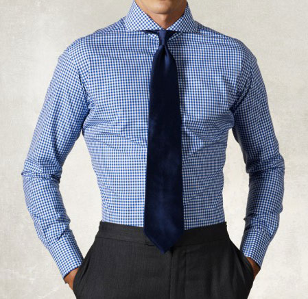 Cut-away collar frech cuff dress shirt