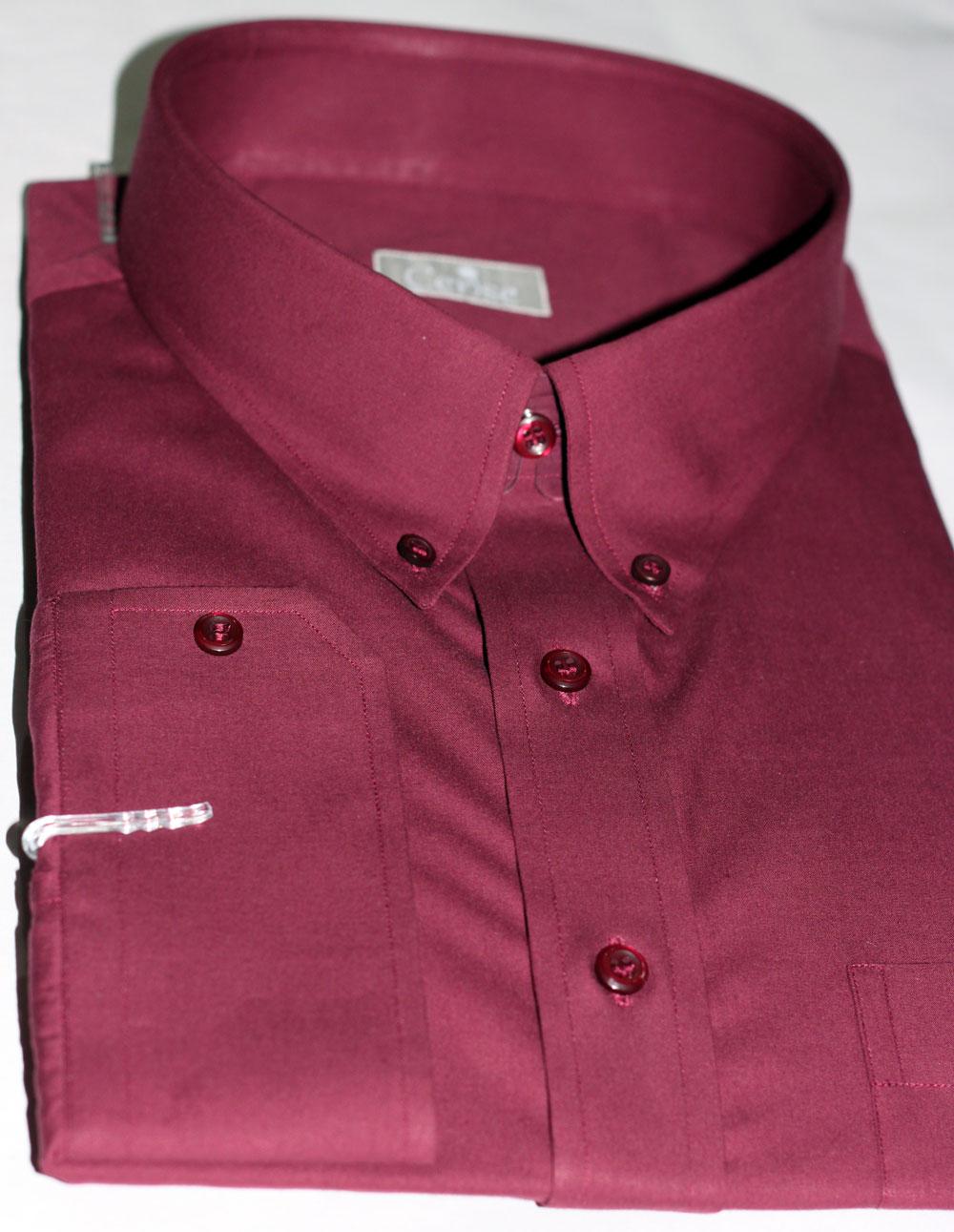 Burgundy Dress Shirts Mens Custom Burgundy Dress Shirts