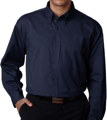 Custom Navy Dress Shirt