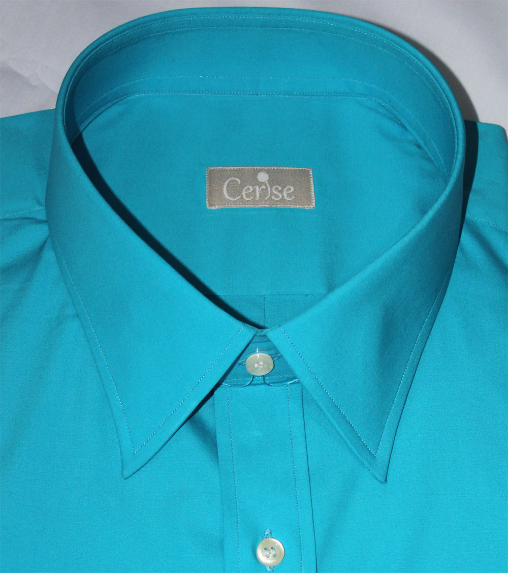 Custom Teal Dress Shirt