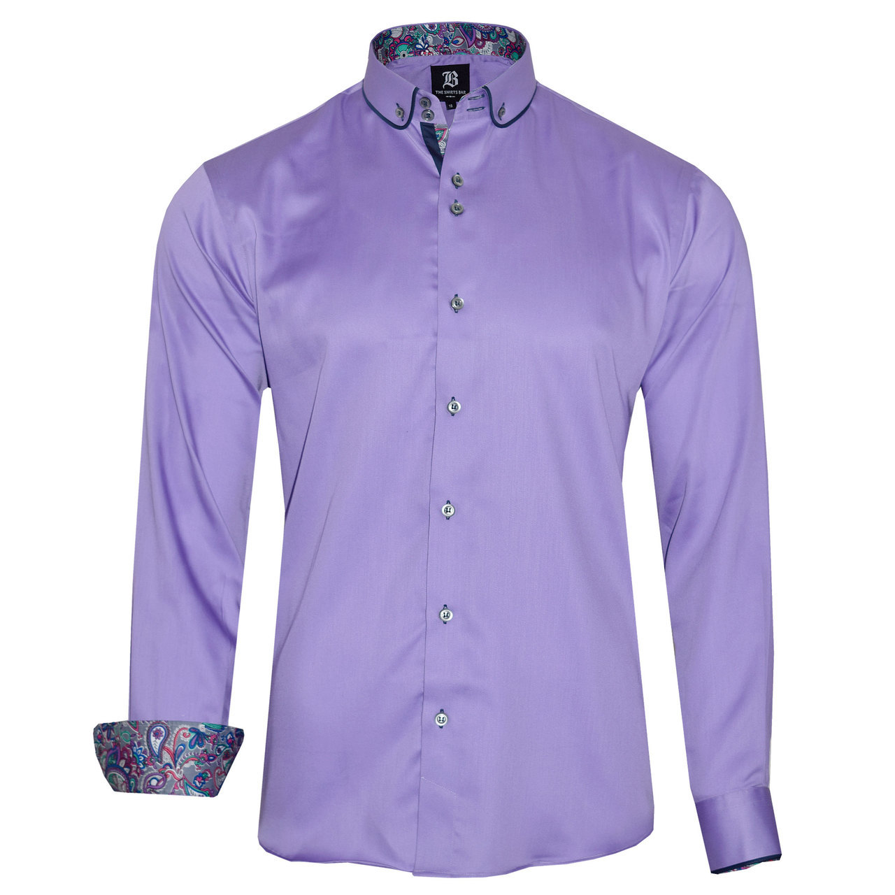 Men 39 s light purple shirt Light purple dress shirt men