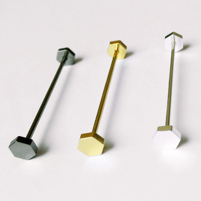Hexagonal Nut Shaped Collar Pin Bar