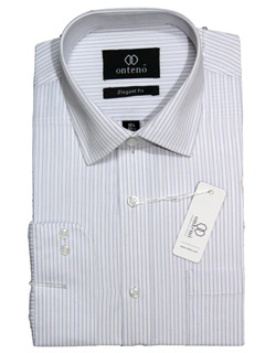 white shirt with light blue striped