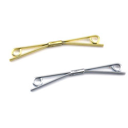 Golden collar tie bar clasp