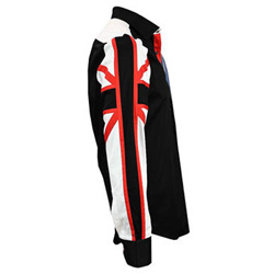 Men's Italian Style Black Union Jack Print Regular Fit Formal Shirt