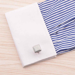 New Men's Silver Cuff Link