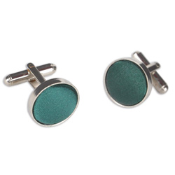 Dark Green Round Cufflinks