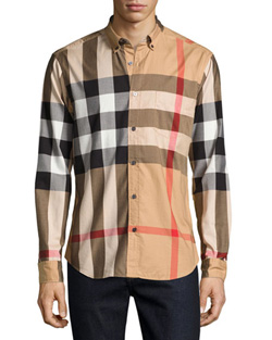 Taupe Brown Nova Check Shirt