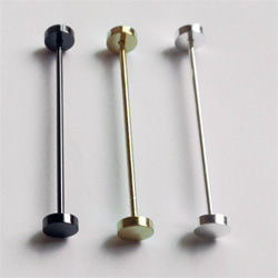 Round Disc Shaped Collar Pin Bar