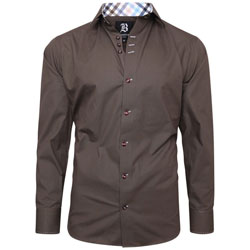 Men's Brown Regular Fit Formal Shirt